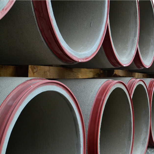 Tubagens de betão pré-esforçado com alma de aço para condutas em pressão