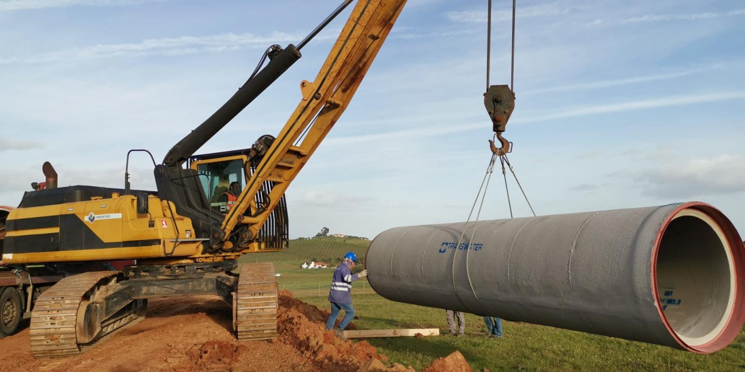 Empreitada de Construcao do Bloco de Rega de evora 1 Irrigation d'Évora - Portugal